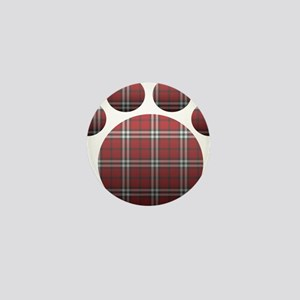 Plaid Paw Mini Button