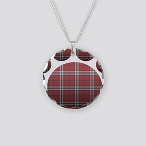 Plaid Paw Necklace Circle Charm