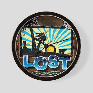 4-lostwoodvintageFINAL2 Wall Clock