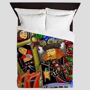 Royal Flush Games of Skill and chance  Queen Duvet