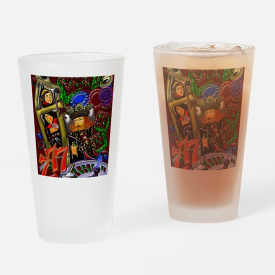 2-Royal Flush Games of Skill and ch Drinking Glass