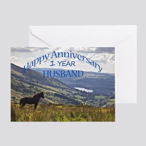 1st Anniversary for husband Greeting Cards