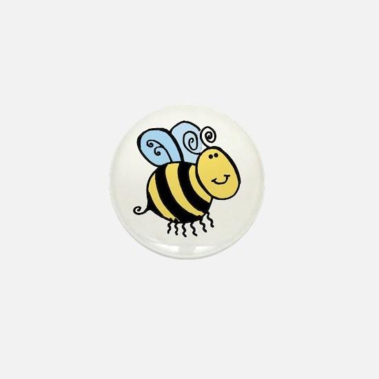 Wobbly Bee Mini Button