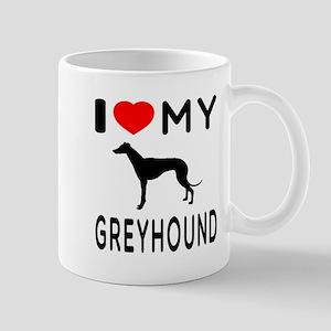 I Love My Greyhound Mug