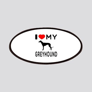 I Love My Greyhound Patches