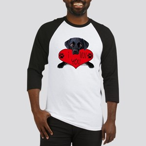 Black Lab Valentine Baseball Jersey