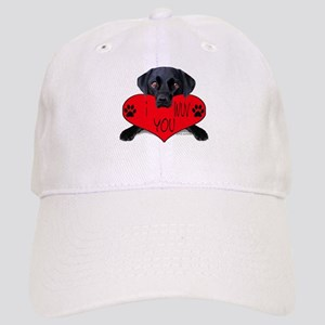 Black Lab Valentine Cap