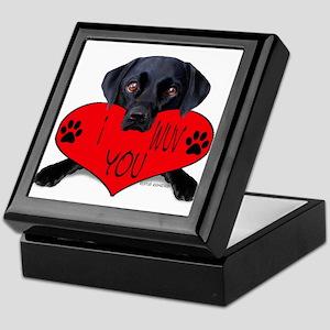 Black Lab Valentine Keepsake Box