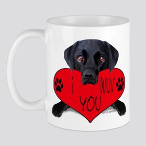 Black Lab Valentine Mug