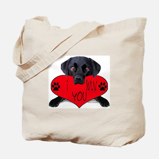 Black Lab Valentine Tote Bag