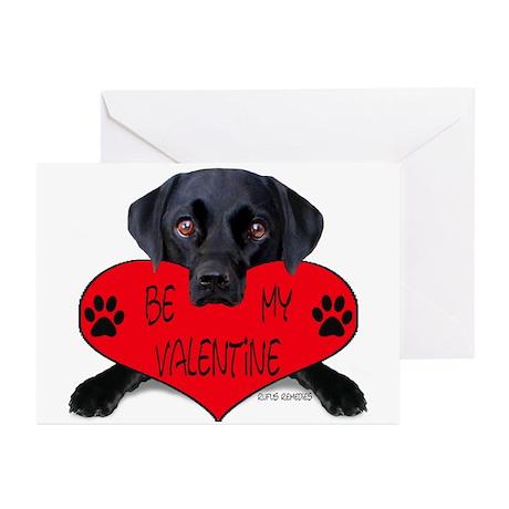 Black Lab Valentine Greeting Cards (Pk of 10)