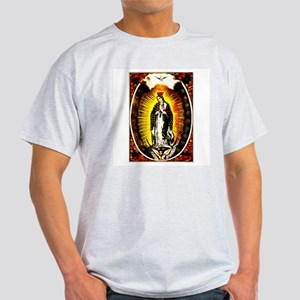 Virgin of Guadalupe Ash Grey T-Shirt
