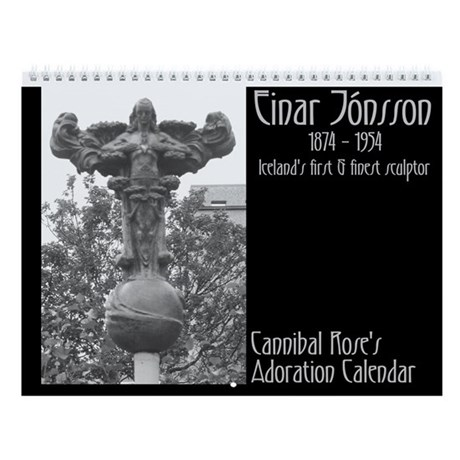 Einar Jonsson Wall Calendar