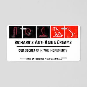 Richards antiaging cream Aluminum License Plate