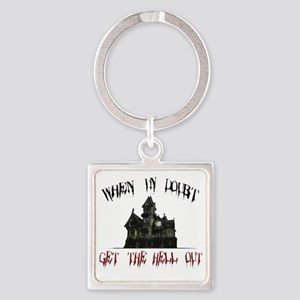 2-GetOut Square Keychain