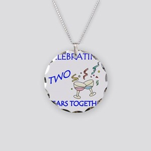 ANNIVERSARY TOAST 2 Necklace Circle Charm