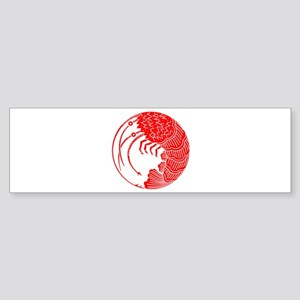 Spiny lobster circle Sticker (Bumper)
