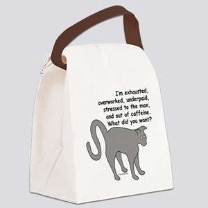 exhaustoverworkwhatwant Canvas Lunch Bag