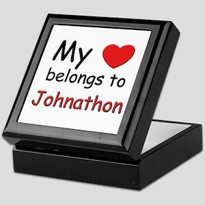 My heart belongs to johnathon Keepsake Box