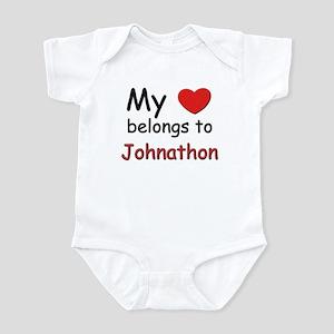 My heart belongs to johnathon Infant Bodysuit