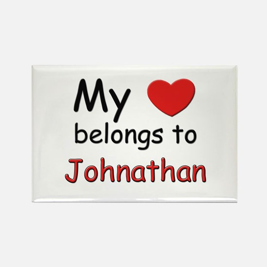 My heart belongs to johnathan Rectangle Magnet