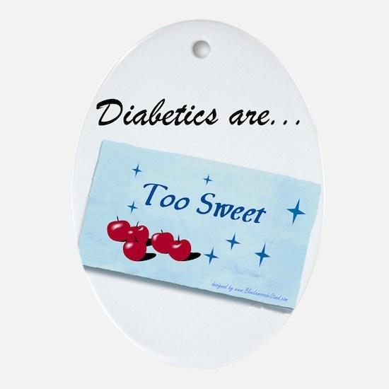Diabetics Oval Ornament