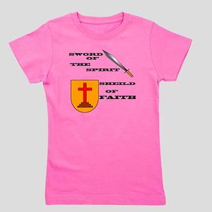 armor of God back Girl's Tee
