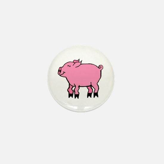Wobbly Pig Mini Button