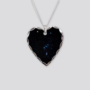 Orion Constellation Necklace Heart Charm