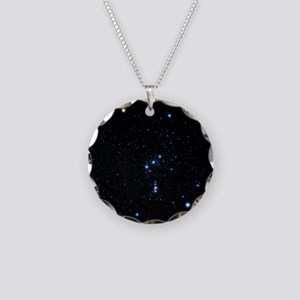 Orion Constellation Necklace Circle Charm