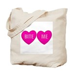 Bite Me Hearts Tote Bag