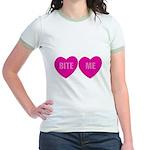 Bite Me Hearts Jr. Ringer T-Shirt