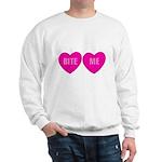 Bite Me Hearts Sweatshirt