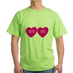 Bite Me Hearts Green T-Shirt