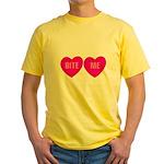 Bite Me Hearts Yellow T-Shirt