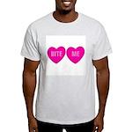 Bite Me Hearts Ash Grey T-Shirt