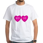 Bite Me Hearts White T-Shirt