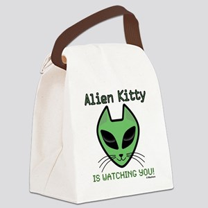 2-AlienKitty-IsWatching Canvas Lunch Bag