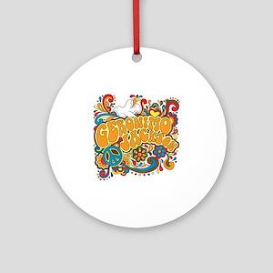 2-geronimogroovy Round Ornament