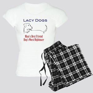 lacy hog dog tshirt front Women's Light Pajamas