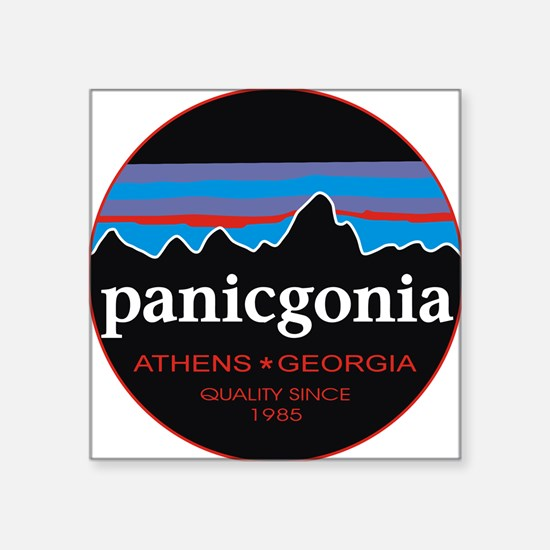 "PANICGONIA Square Sticker 3"" x 3"""