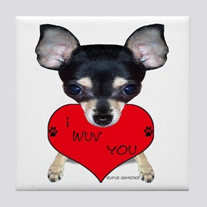 Chihuahua Valentine Tile Coaster