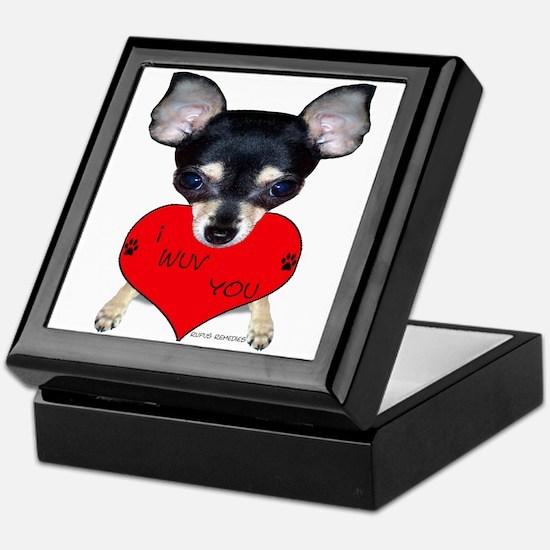 Chihuahua Valentine Keepsake Box