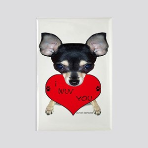 Chihuahua Valentine Rectangle Magnet