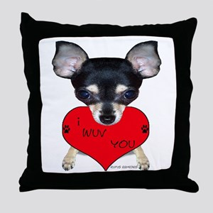 Chihuahua Valentine Throw Pillow