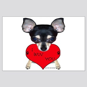 Chihuahua Valentine Large Poster