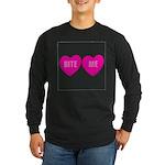 Bite Me Hearts Long Sleeve Dark T-Shirt