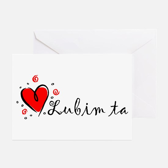 """""""I Love You"""" [Slovak] Greeting Cards (Pk of 10"""