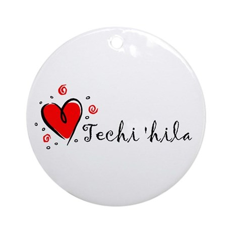 """""""I Love You"""" [Sioux] Ornament (Round)"""