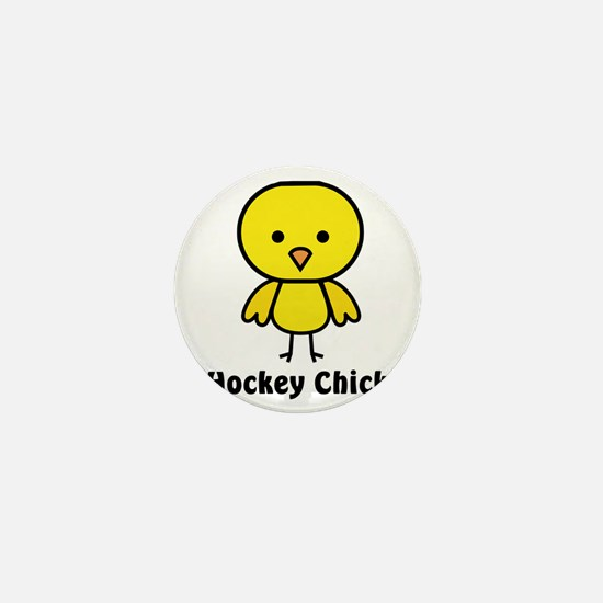 hockey chick Mini Button